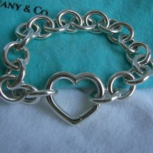 Tiffany & Co. Silver Clasping Heart Bracelet